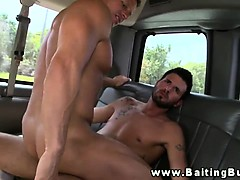 Straight amateur jock tricked into anal